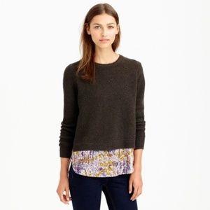 J.Crew Shirttail Sweater Liberty Poppy Floral